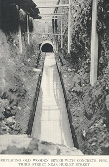 Historic Sewer Construction Photo