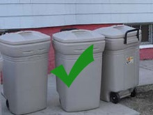 Correct way to place trash at curb