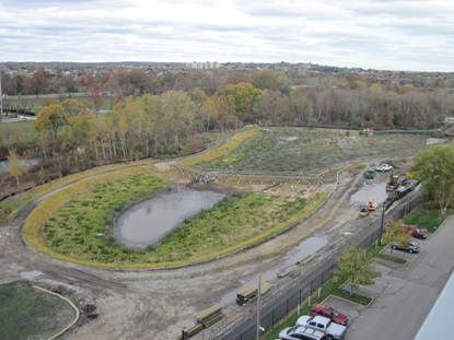 Main wetland basin, looking from west to east, November 2 2012