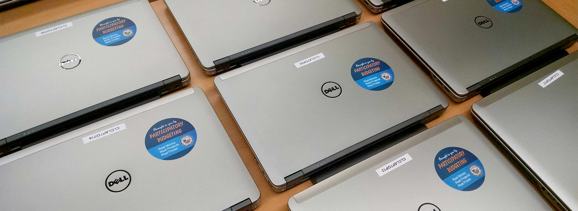 Photo of laptops purchased with Participatory Budgeting funds