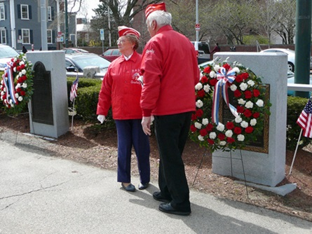 Members of the Cambridge Polish American Veterans Place Wreaths at the Kosciusko and Pulaski Monuments (4/20/2009) - Cynthia Abatt