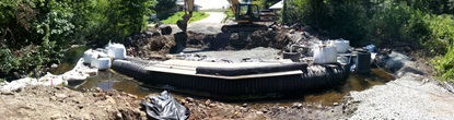 Panorama; preparing the new bridge deck footings