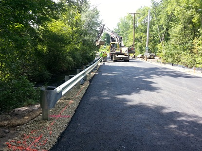 roadway resurfaced