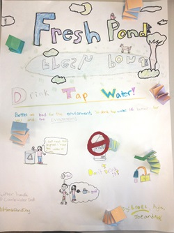 Tap Water Poster made by students in the Montessori School Upper Elementary Class, Spring 2013.
