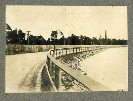 East shore of Fresh Pond, photo taken in 1899.