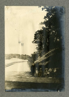 1899 Photo of Fresh Pond Grove under railroad bridge.