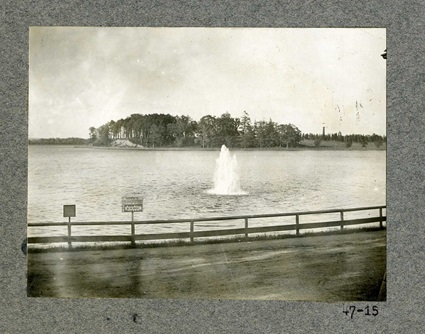 Photo of the view from bank near inlet Gate House taken in 1901.