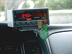 View of a properly sealed Taximeter